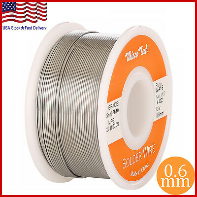 6040 Tin Lead Rosin Core Solder Wire Soldering Sn60 Pb40 Flux .0230.6mm 4oz