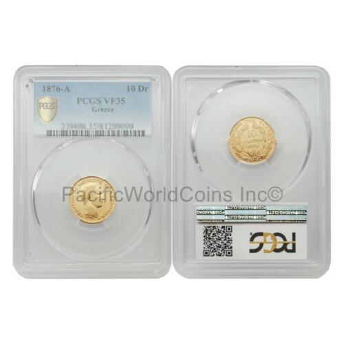 Greece 1876-A 10 Drachmai Gold PCGS VF35 SKU#5700