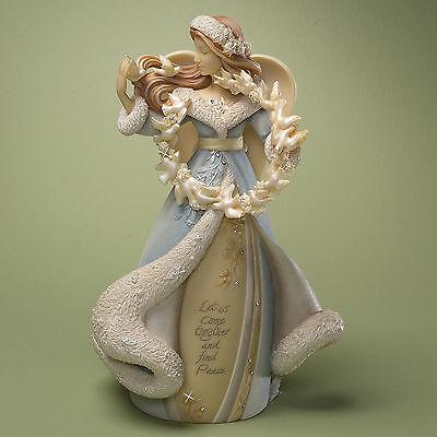 Enesco Foundations Christmas Holiday Winter Angel With Birds Figurine 4022670