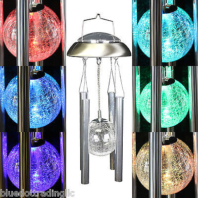 new solar powered wind chimes color changing led light outdo