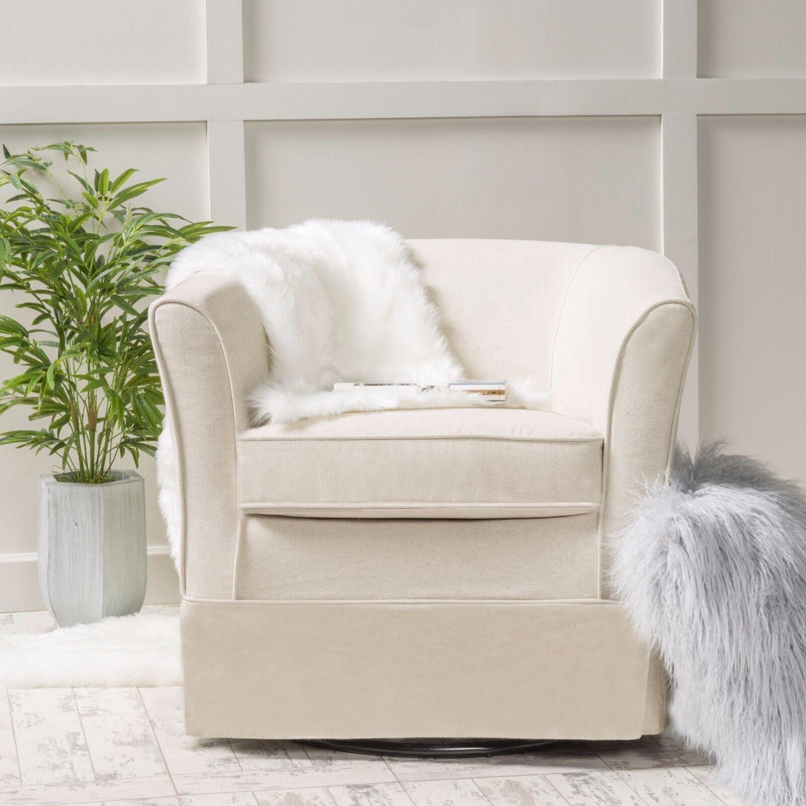 Hamilton Natural Fabric Swivel Chair Chairs
