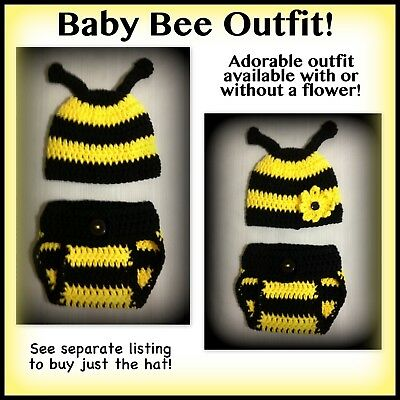 Halloween Baby Photos (Bee baby outfit, Halloween baby, preemie, 0-3 months, 3-6 months baby photo)