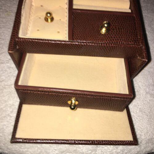 Dulwich Designs Genuine Leather Black Jewelry Travel Case - $45.99