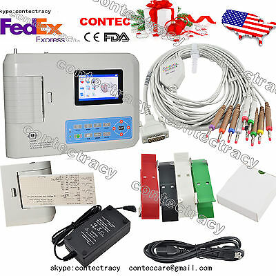 Digital Electrocardiograph 3 Channel 12 Leads Ecg Machine Softwareecg300gusa