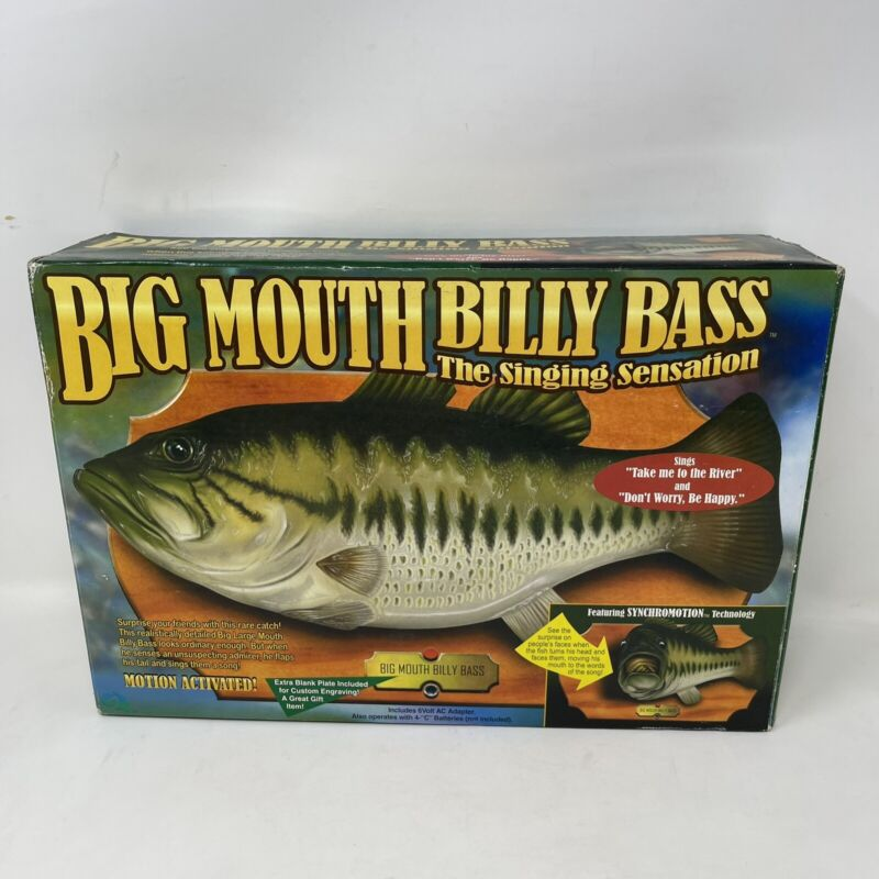 Big Mouth Billy Bass The Singing Sensation Gemmy 1998 Singing Fish New Open Box