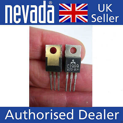 Mitsubishi C1969 x 2  NPN power transistors  NEW old stock