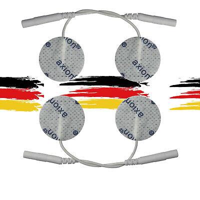 4 Elektroden Pads rund Ø 32mm für TENS EMS Reizstrom Gerät Elektroakupunktur