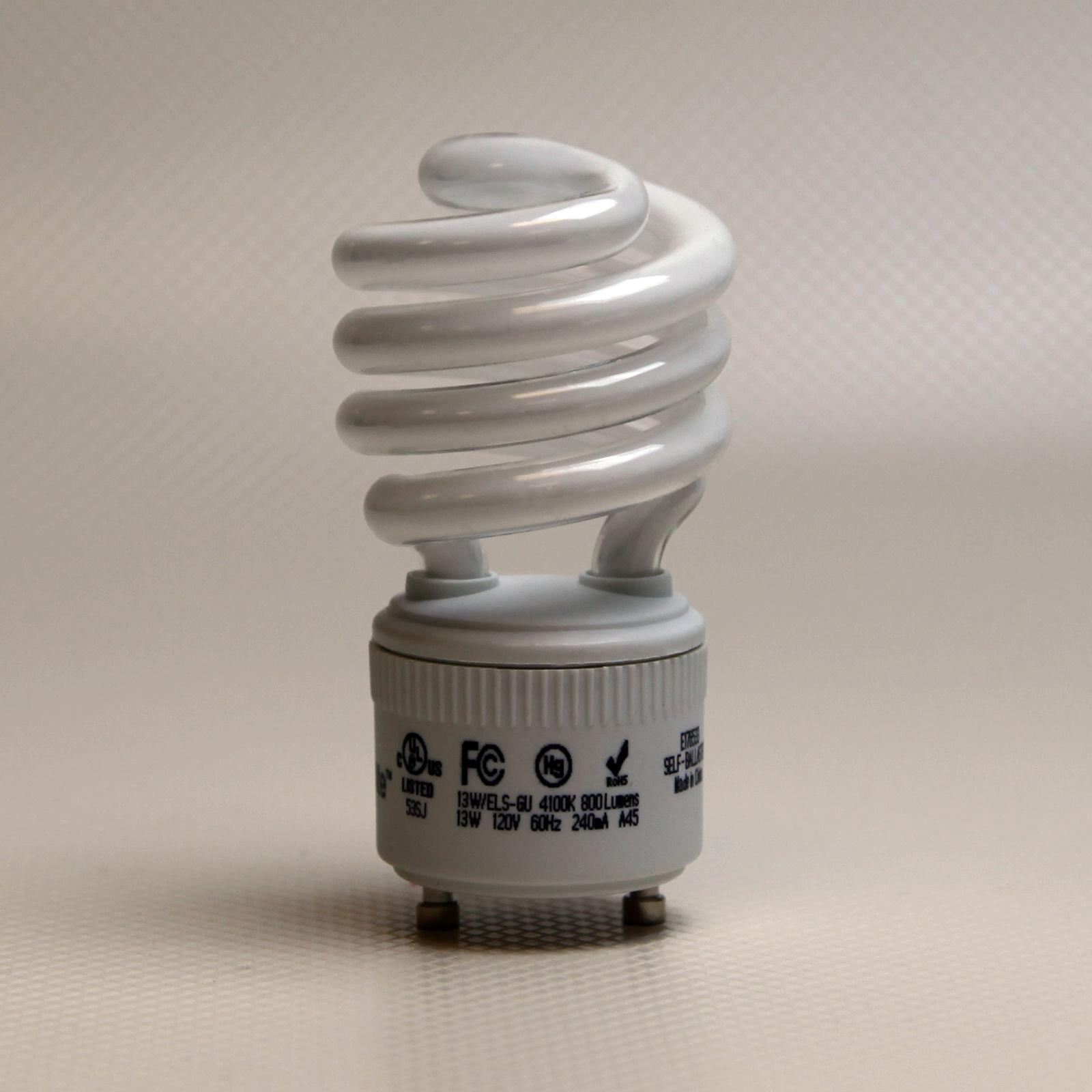 13W Fluorescent Light Bulb High Lumen 2700K Output GU24 Base CFL 60W Warm White