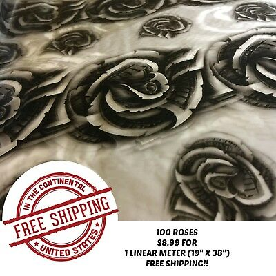 Hydro Dip Water Transfer Hydrodipping Hydrographic Film 100 Roses 1m