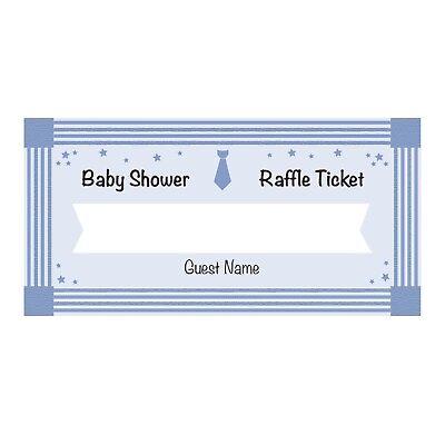 24 Baby Shower Diaper Raffle Ticket Cards - Boy - Baby Shower Diaper Raffle