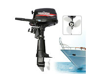 6.5HP 4-Stroke Outboard Motor Marine Boat Engine CDI Water Cooling System 123CC