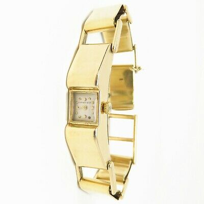 NYJEWEL Tiffany & Co. 14k Solid Yellow Gold Watch 50.7g