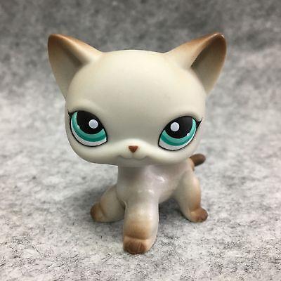 Littlest Pet Shop Animals LPS Toy #391 Grey Short Hair Cat Figure D!