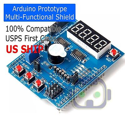 Multi-function Shield With Buzzer Lm35 4led For Arduino Uno R3 Lenardo Mega2560