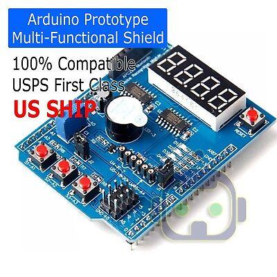 Multi-function Shield With Buzzer Lm35 4led For Arduino Uno R3 Lenardo Mega2560