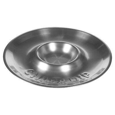 Chips & Dip Metal Stainless Steel Dish Party Tray Multi Section Crisps Veg Bowl