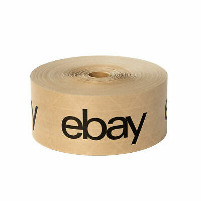 Ebay Branded Brown Water Tape Wblack Lettering 2.75 X 166 Yards New 1 Roll