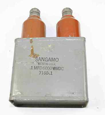 Sangamo 0.1uf 6000 Wvdc Capacitor