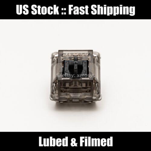 [US Stock] Gateron Ink Black v2 - Lubed & Filmed (Krytox 205g0/105 + Filmed)