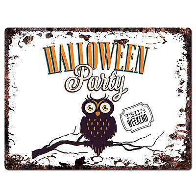 PP1921 HALLOWEEN PARTY Plate Chic Sign Home Store Halloween Decor Gift - Pp Halloween
