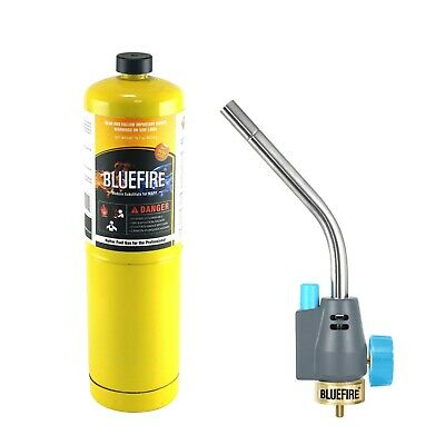 Bluefire Trigger Start Gas Welding Torch Kit W Mappbrass Knobpropane Map Pro