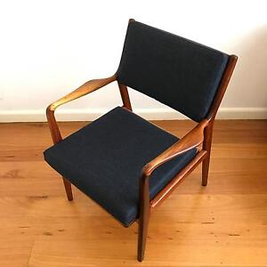 Mid Century Side Chair designed by K EKSELIUS Danish/ Parker/Fler Yarraville Maribyrnong Area Preview