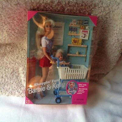 Barbie & Kelly Shoppin' Fun Dolls & Cart 'Kelly Moves' 1995 3+ New MIB #15756