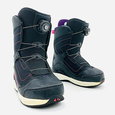 ThrityTwo STW BOA Black Pink Snowboard Boots Womens Size 7