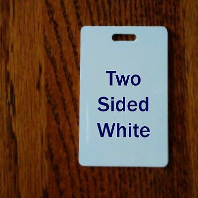 2 Sided White Aluminum Luggage Tags Credit Card Size - For Sublimation Printing