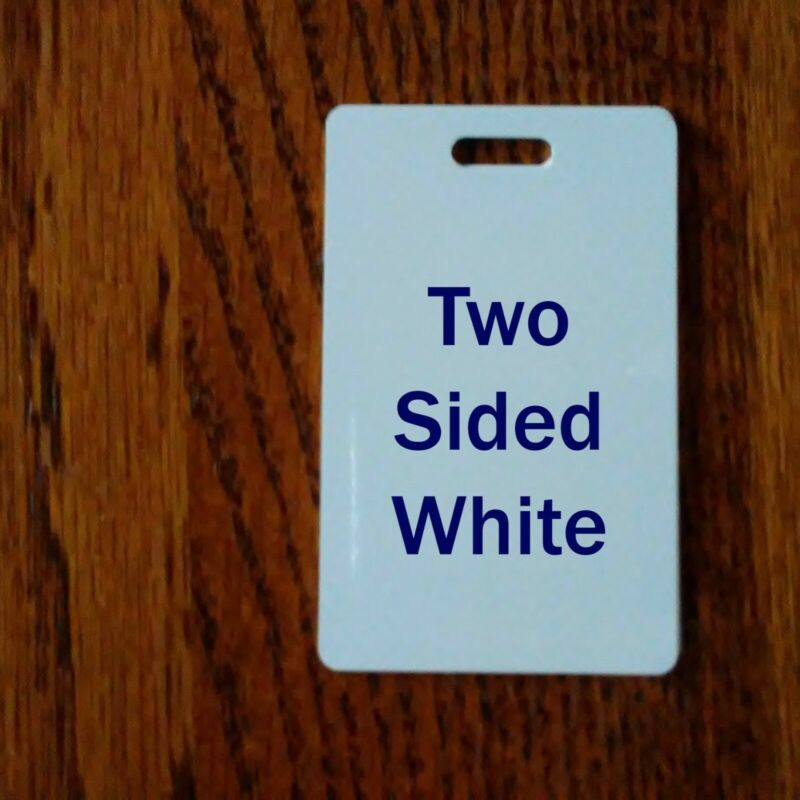 2 SIDED WHITE ALUMINUM LUGGAGE TAGS/ CREDIT CARD SIZE - For Sublimation Printing