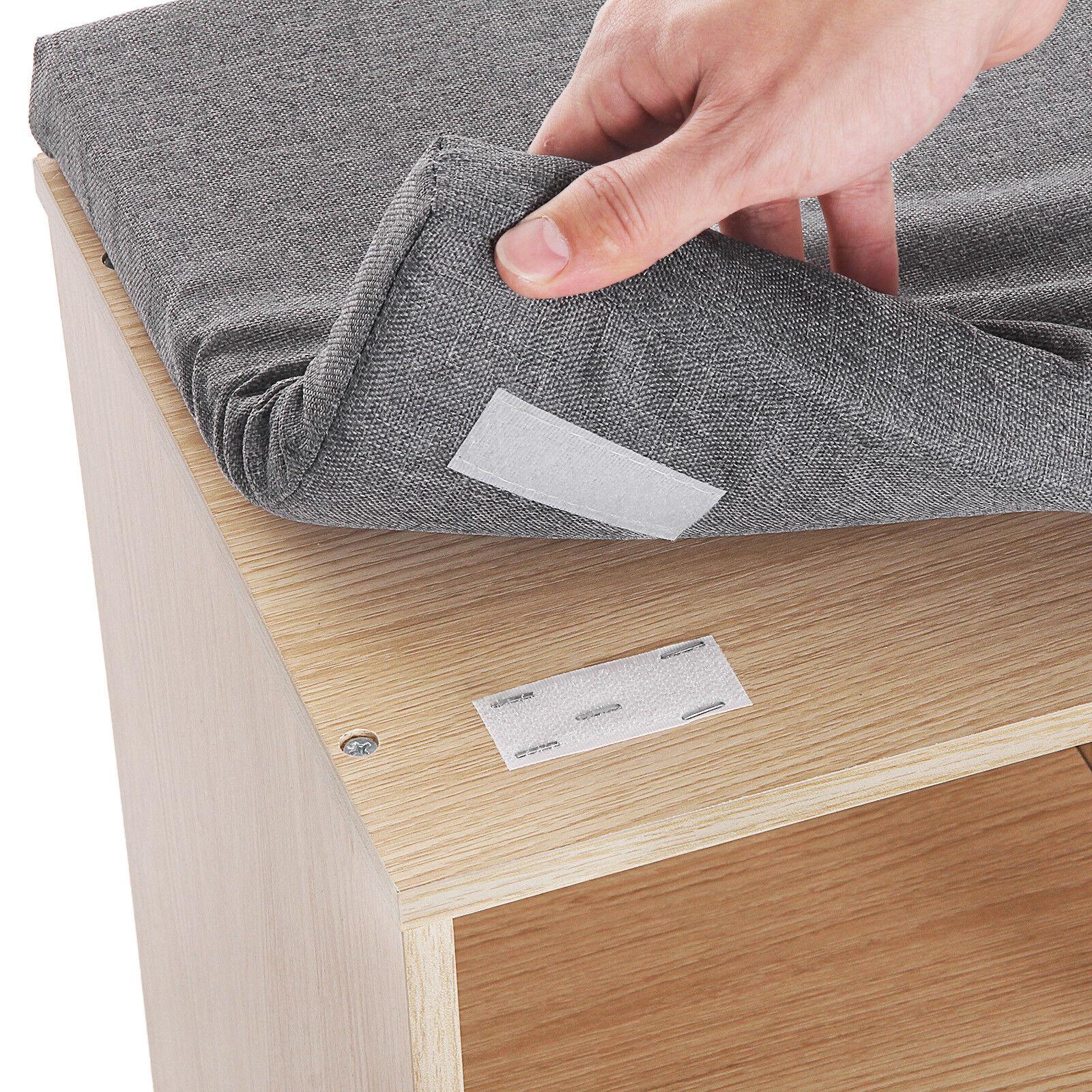 schuhbank schuhschrank schuhregal sitzb nke mit sitzkissen 104x48x30 cm lhs10n eur 51 99. Black Bedroom Furniture Sets. Home Design Ideas