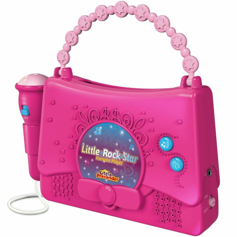 Kids Karaoke Machine for Girls Little Rock Star Music Player 10 Programmed Songs