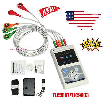Us Tlc9803 Dynamic Ecg System 3-lead 24 Hours Recorder Alalyzer Software