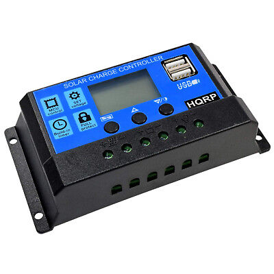 Hqrp 20A Solar Power Controller Regler 12V/24V 20A LED Blinker Solar-power-controller