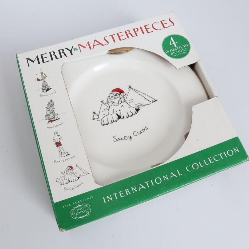 MERRY MASTERPIECES DINNER PLATES INTERNATIONAL COLLECTION New In Box Pyramids