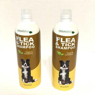 2 Nature's Best Flea Tick Dog Shampoo 32 oz. Total Clean Condition Essential (Best Flea And Tick Shampoo)