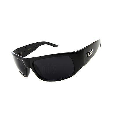 black shades glasses  Mens LOCS Sunglasses Sports Gangster Glasses Thug Biker Dark Black ...