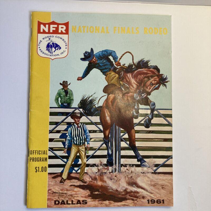 1961 NFR National Finals Rodeo Dallas Program + Ticket Stub + Go Round Sheet