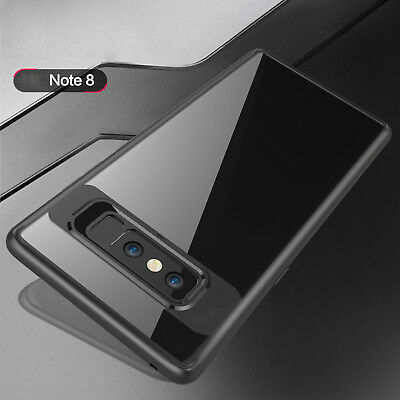 For Samsung Galaxy Note8 Slim Shockproof Hard Clear Back Case TPU Bumper Cover