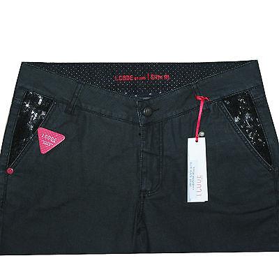 b96a5a2ed868b I.CODE by IKKS jeans noir enduit noir femme slim fit taille haute   eBay