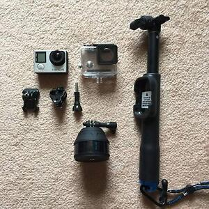 Gopro hero 4+ selfie stick + 64gb memory card+ time-lapse pod East Corrimal Wollongong Area Preview