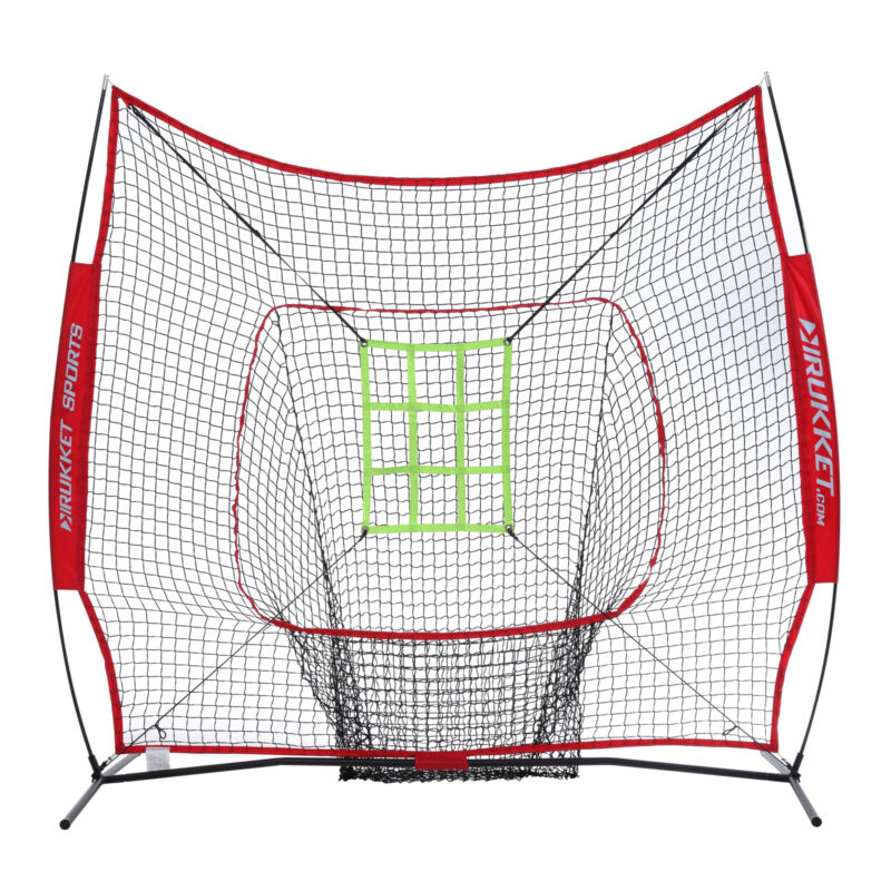 Rukket Sports 7x7 Sock It Baseball and Softball Practice Net Strike Zone (Used)