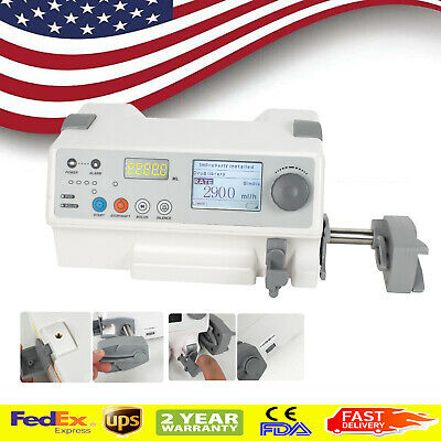 New Us Portable Medical Infusion Syringe Pump Drug Library Visual Alarm Icu