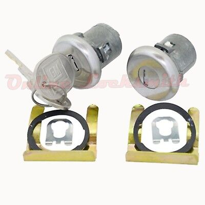 New Pair Of Door Locks For Cadillac 1970+ With Keys GM Logo OEM Strattec 608307