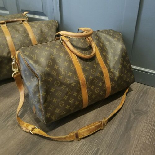 Authentic Louis Vuitton Keepall Duffle Bandouliere 45 M41418 Brown Monogram  - $419.99