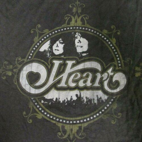 HEART Concert T-Shirt, 2010 TOUR RARE NEW! Large size,Black ,Cotton , USA Tour