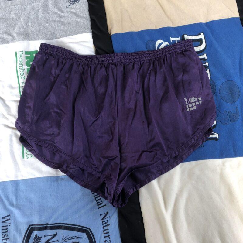 Vintage New Balance Track Running Sprinter Shorts Purple 80s 90s Rare Men