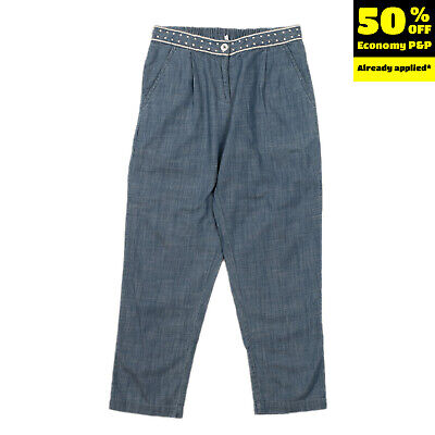 NICE THINGS MINI Denim Trousers Size 10Y Embroidered Waist Pleated