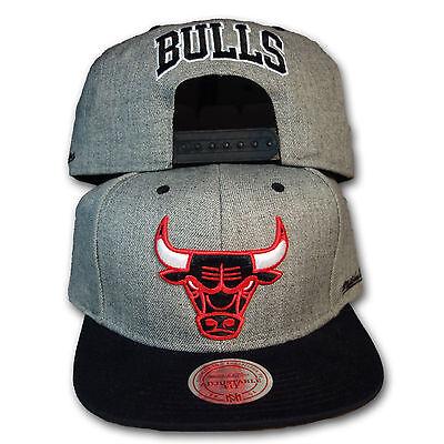 Original Mitchell & Ness Chicago Bulls Snapback Cap Backboard NBA grau/schwarz Chicago Board