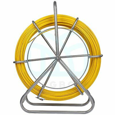 Fish Tape Fiberglass 6mm 425ft Reel Wire Cable Duct Rodder Fishtape Puller